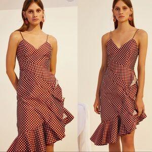 Keepsake Love Light Polka Dot Ruffle Dress